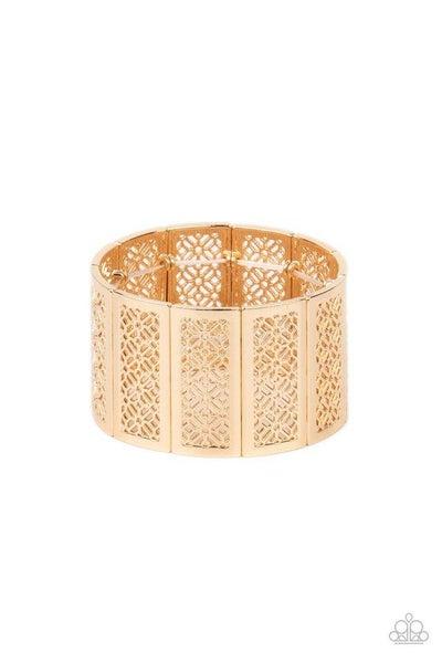 Paparazzi Bracelet ~ Thai Terrariums - Gold