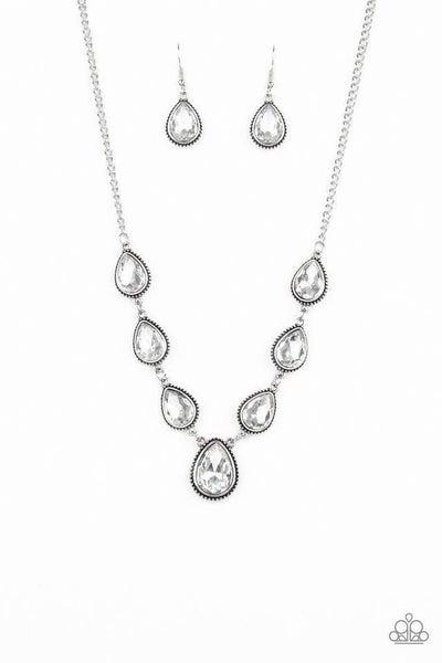 Paparazzi Necklace ~ Socialite Social - White