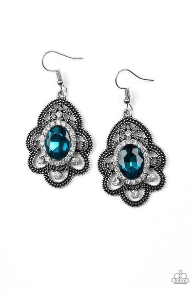 Paparazzi Earring ~ Reign Supreme - Blue
