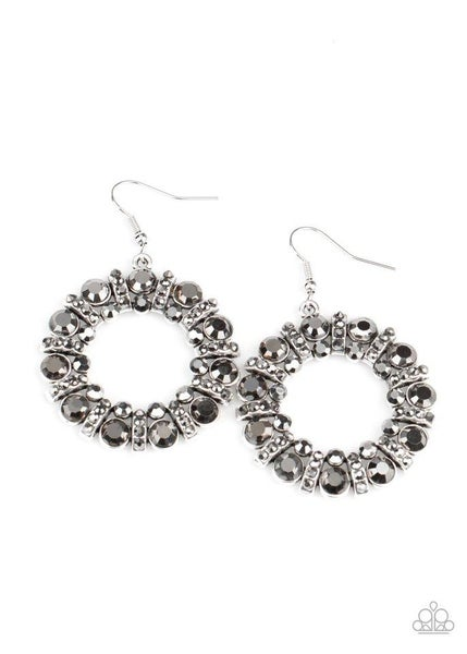 Paparazzi Earring ~ Baby, Its Cold Outside - Silver