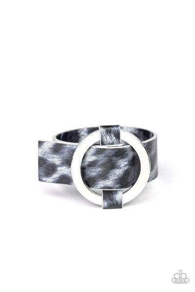 Paparazzi Bracelet ~ Jungle Cat Couture - Silver