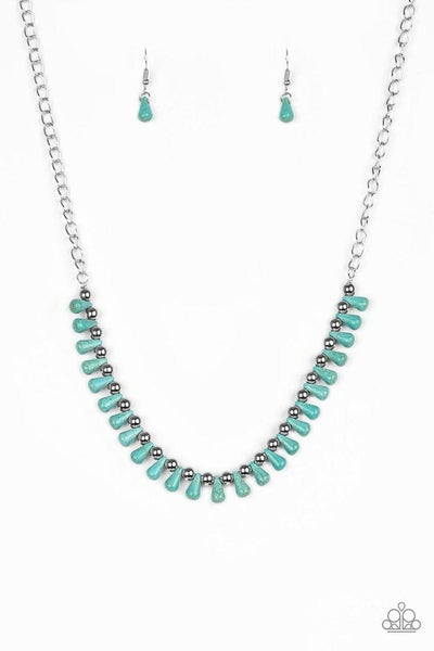 Paparazzi Necklace ~ Extinct Species - Blue