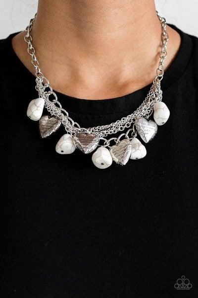 Paparazzi Necklace ~ Change Of Heart - White