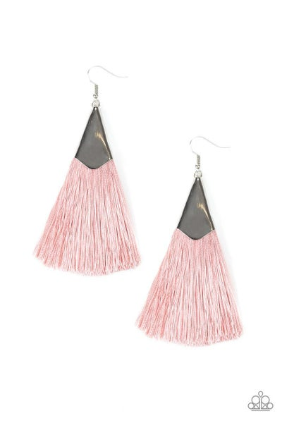 Paparazzi Earring ~ In Full PLUME - Pink