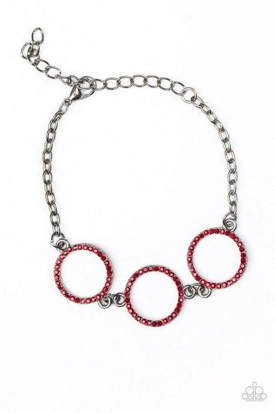 Paparazzi Bracelet ~ Dress The Part - Red