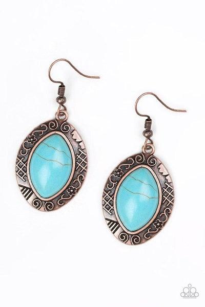 Paparazzi Earring ~ Aztec Horizons - Copper