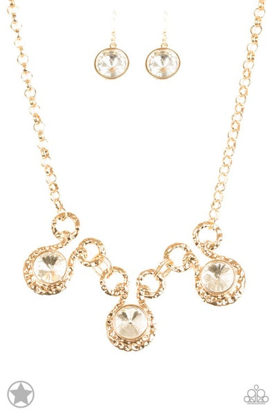 Paparazzi Necklace Blockbuster - Hypnotized - Gold