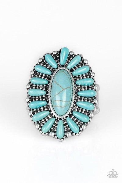 Paparazzi Ring ~ Cactus Cabana - Blue
