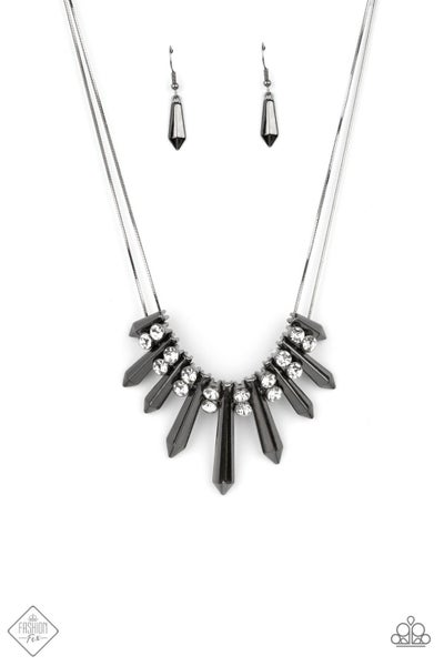 Paparazzi Necklace Fashion Fix May 2021 ~ Dangerous Dazzle - Black