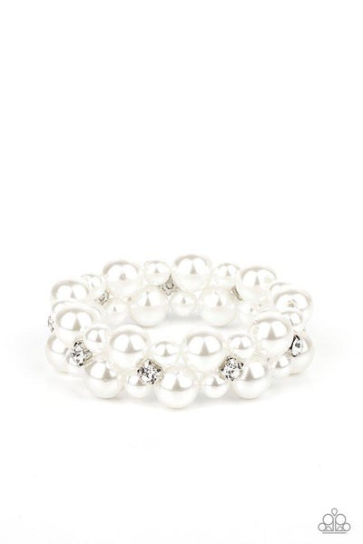 Paparazzi Bracelet  ~ Flirt Alert - White