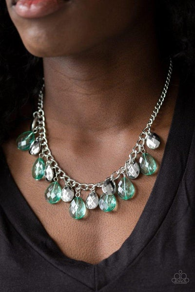 Paparazzi Necklace ~ No Tears Left To Cry - Green