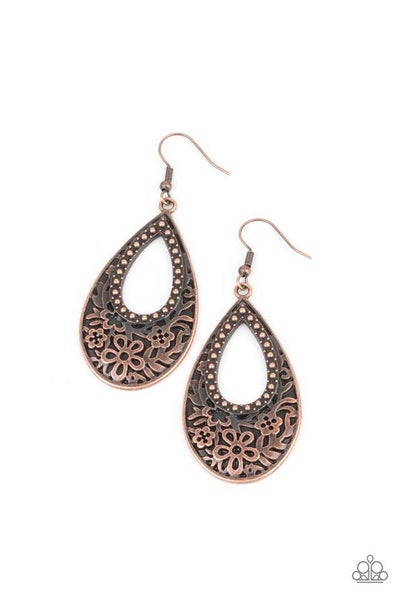 Paparazzi Earring ~ Organically Opulent - Copper