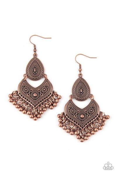 Paparazzi Earring ~ Music To My Ears - Copper
