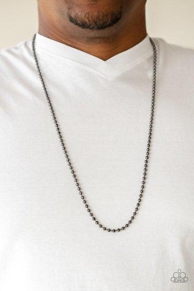 Men's Paparazzi Necklace ~ Cadet Casual - Black
