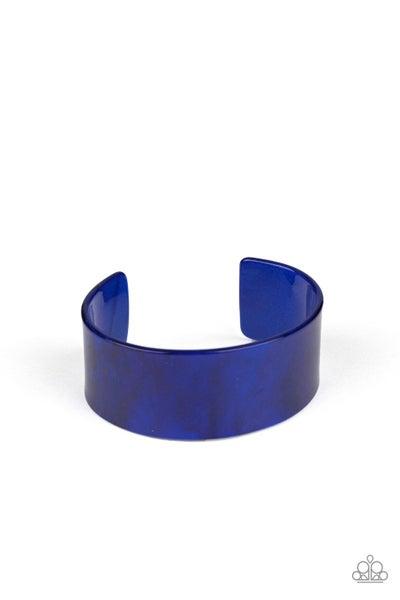 Paparazzi Bracelet ~ Glaze Over - Blue