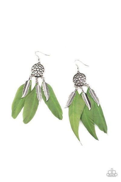 Paparazzi Earring ~ In Your Wildest DREAM-CATCHERS - Green