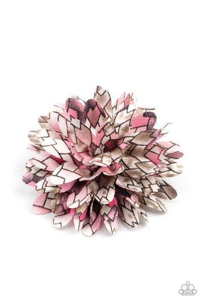 Paparazzi Hair Accessories PREORDER ~ Vanguard Gardens - Pink