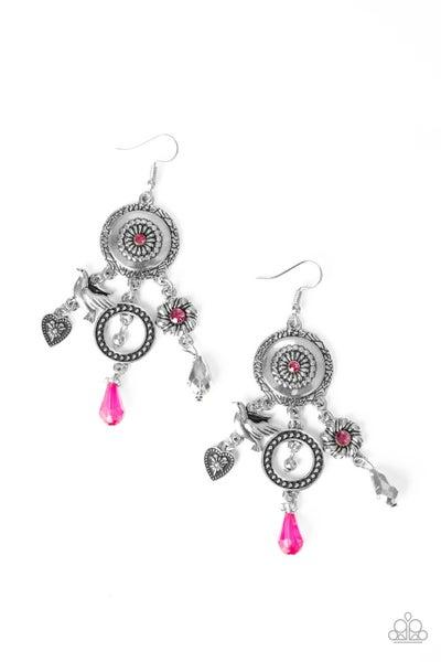 Paparazzi Earring ~ Springtime Essence - Pink
