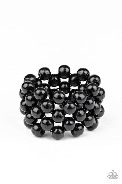 Paparazzi Bracelet ~ Tiki Tropicana - Black