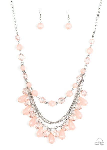 Paparazzi Necklace ~ Awe-Inspiring Iridescence - Pink