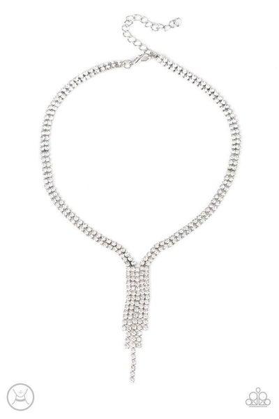 Paparazzi Necklace ~ Double The Diva - White