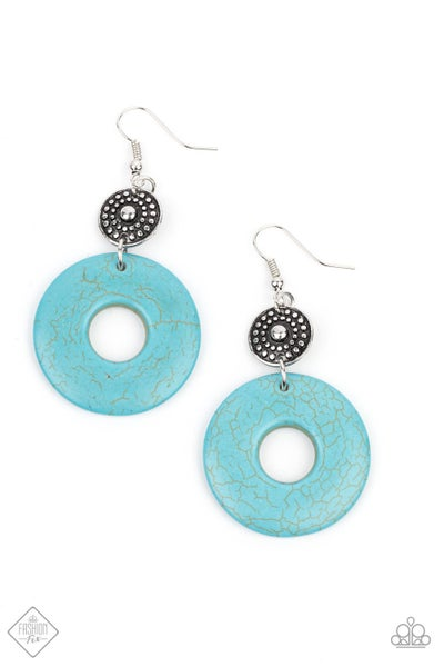 Paparazzi Earring Fashion Fix April 2021 ~ Earthy Epicenter - Blue