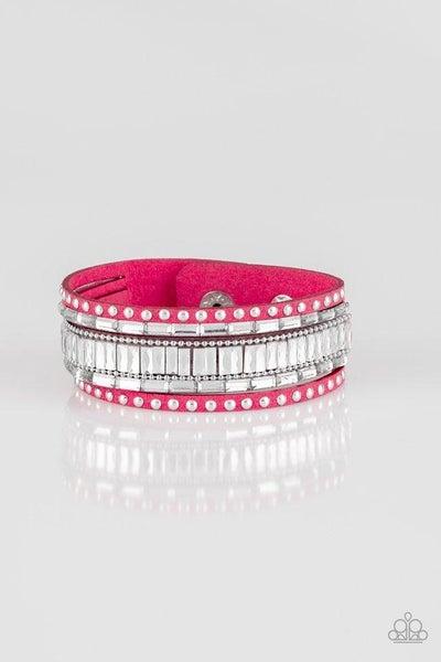 Paparazzi Bracelet ~ Rock Star Rocker - Pink