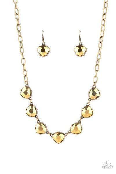 Paparazzi Necklace ~ Star Quality Sparkle - Brass