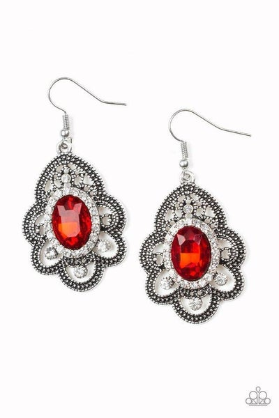 Paparazzi Earring ~ Reign Supreme - Red