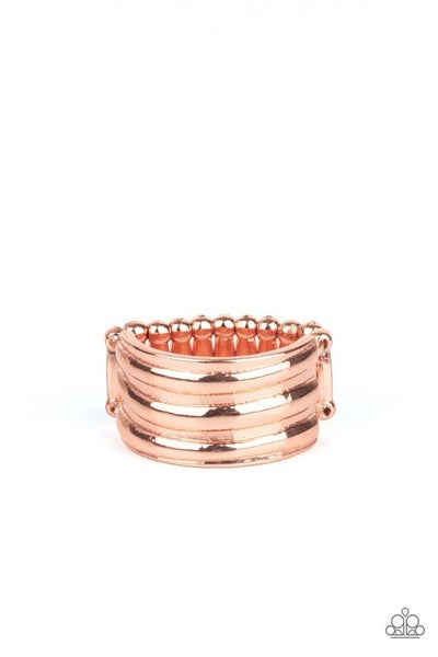Paparazzi Ring PREORDER ~ Rough Around The Edges - Copper