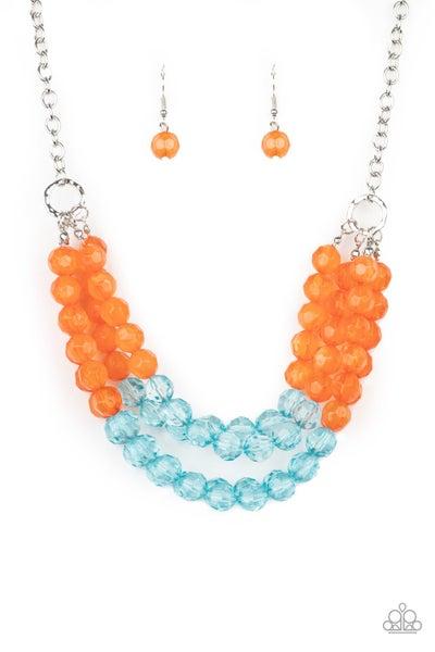 Paparazzi Necklace ~ Summer Ice - Orange