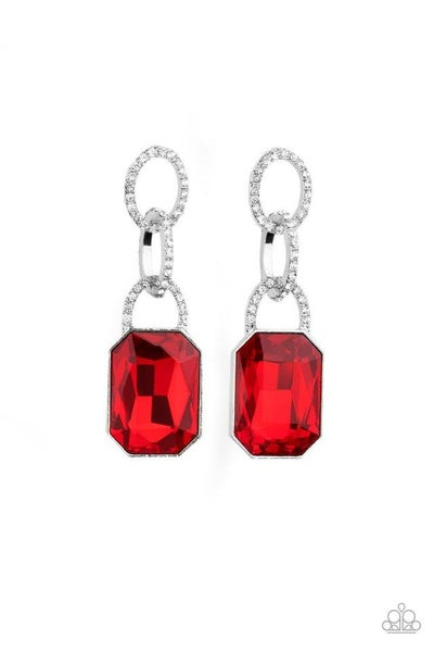 Paparazzi Earring ~ Superstar Status - Red