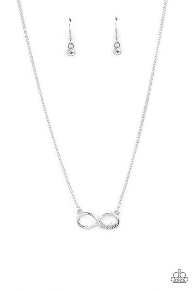 Paparazzi Necklace ~ Forever Your Mom - White