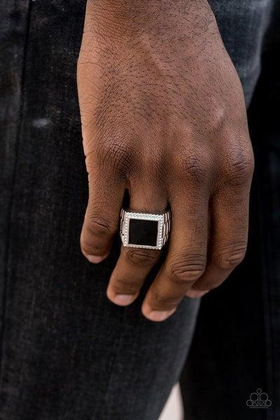 Men's Paparazzi Ring ~ The Titan - Black