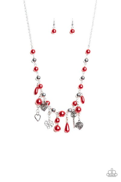 Paparazzi Necklace ~ Renaissance Romance - Red