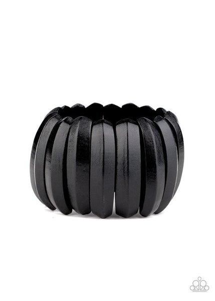 Paparazzi Bracelet ~ Colorfully Congo - Black