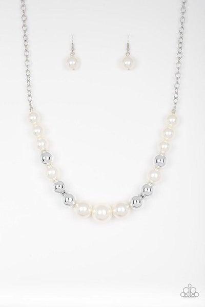 Paparazzi Necklace ~ Take Note - White