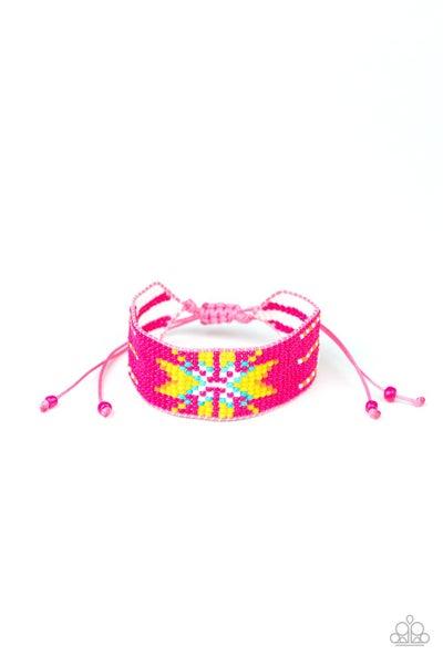 Paparazzi Bracelet ~ Beaded Badlands - Pink