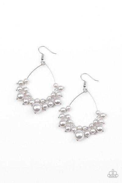 Paparazzi Earring ~ 5th Avenue Appeal - Silver