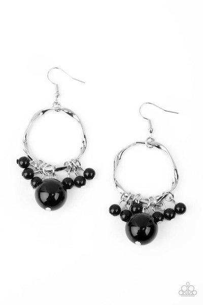 Paparazzi Earring ~ Delectably Diva - Black