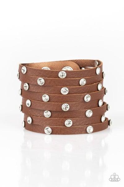 Paparazzi Bracelet ~ Sass Squad - Brown