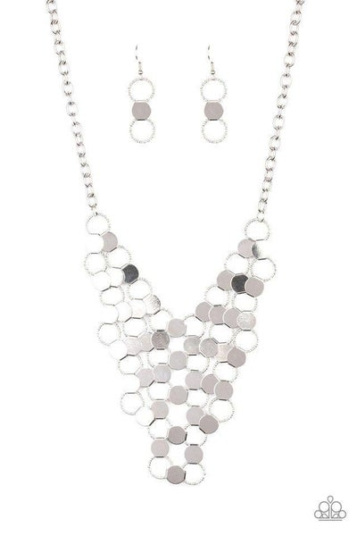 Paparazzi Necklace ~ Net Result - Silver