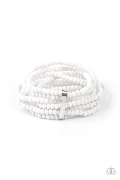 Paparazzi Bracelet ~ Thank Me LAYER - White
