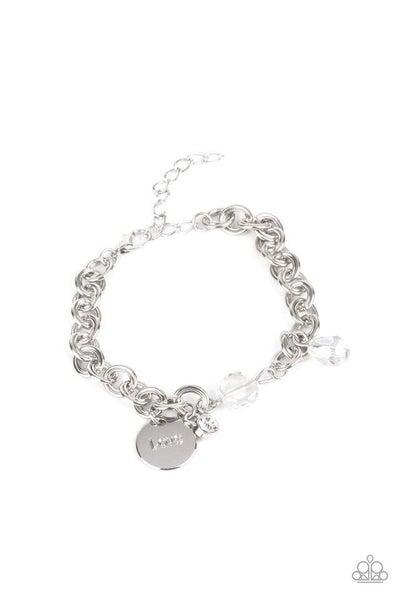 Paparazzi Bracelet ~ IRIDESCENT Lovable Luster - White