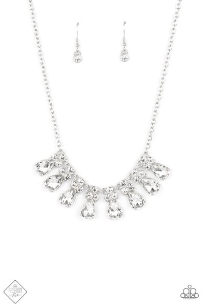 Paparazzi Necklace Fashion Fix May 2021 ~ Sparkly Ever After - White