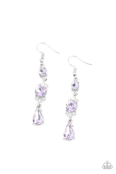 Paparazzi Earring ~ Outstanding Opulence - Purple