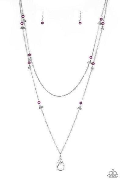 Paparazzi Necklace Lanyard ~ Ultrawealthy - Purple