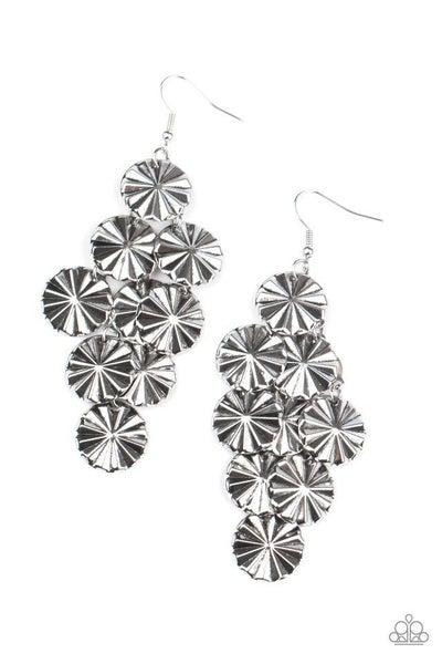 Paparazzi Earring ~ Star Spangled Shine - Silver