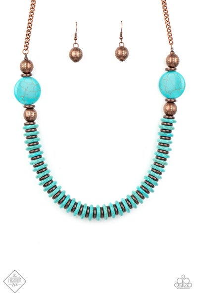 Paparazzi Necklace ~ Desert Revival - Fashion Fix Nov 2020 - Copper