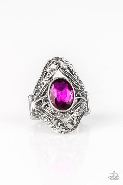 Paparazzi Ring ~ Red Carpet Rebel - Pink